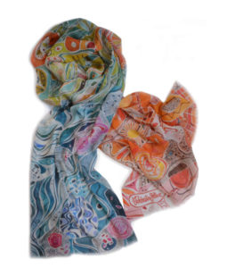 colorful painterly soft modal scarf
