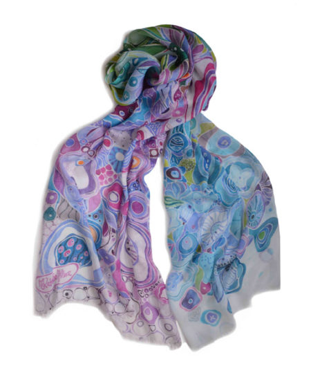 colorful painterly modal scarf