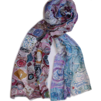 colorful fashionable painterly scarf